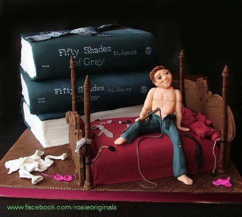 Fifty shades theme cake! Lol
