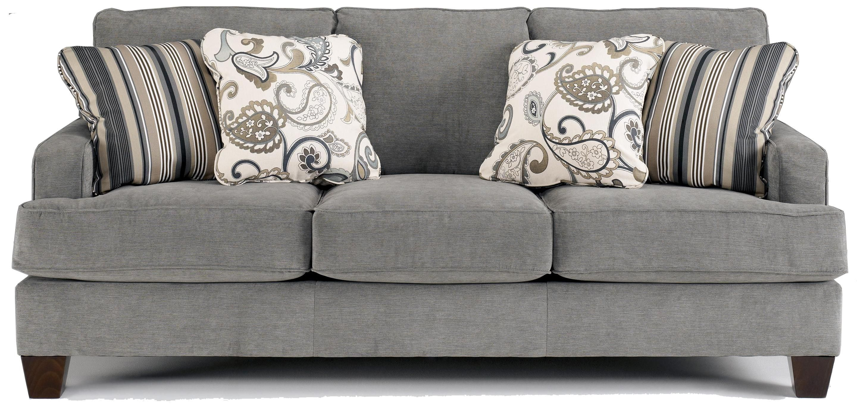 Yvette   Steel Stationary Sofa W/ Loose Seat Cushions By Ashley Furniture    Miskelly Furniture