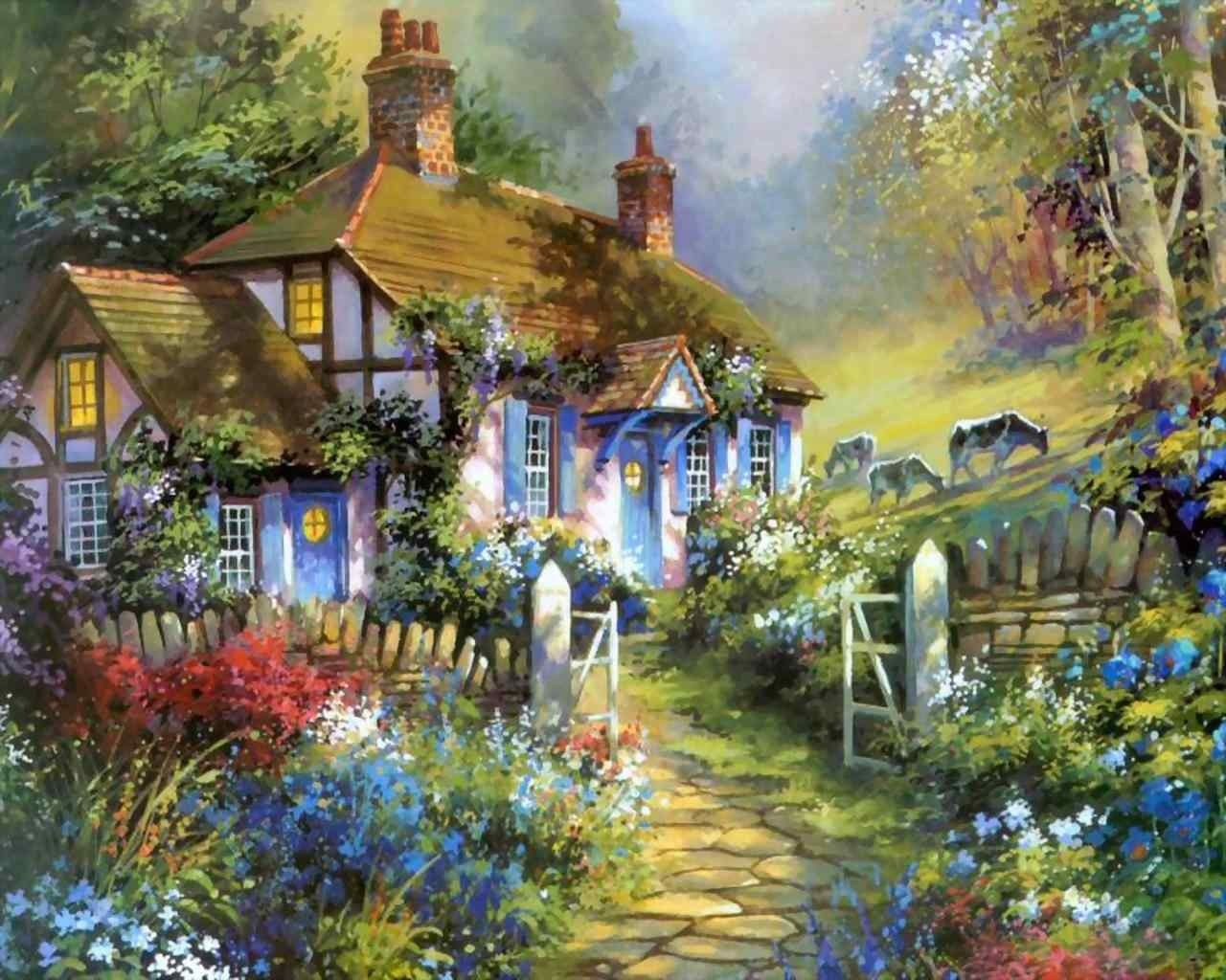 Paintings Thomas Kinkade Paintings Thomas Kinkade Painting Art Decor Pinterest