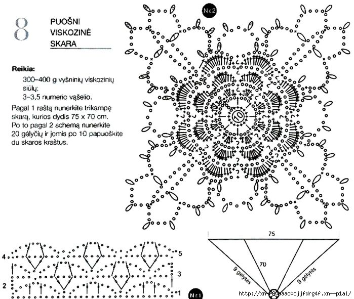 ergahandmade: Crochet Shawl + Diagrams | FLORES | Pinterest ...