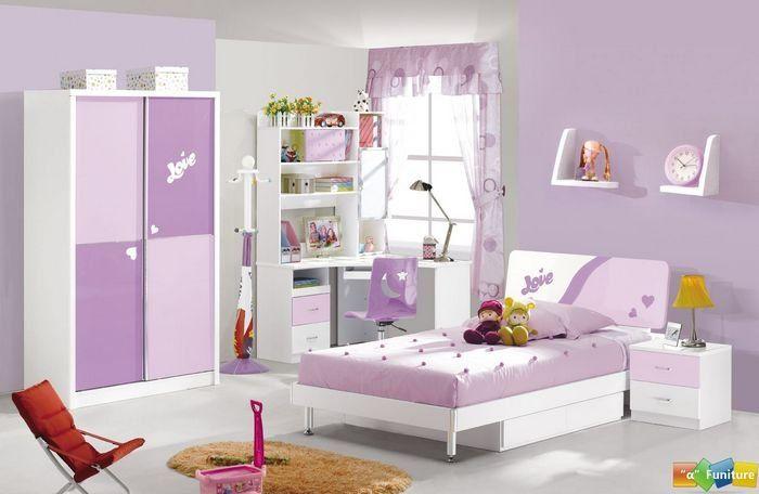 4 Pcs New Full Size Bedroom Set Mdf Panels Children Furniture Book