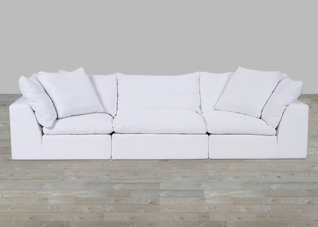 White Cloud Modular Preconfigured Fabric Sofa Fabric Sofa White Fabric Sofa Fabric Sofa Uk