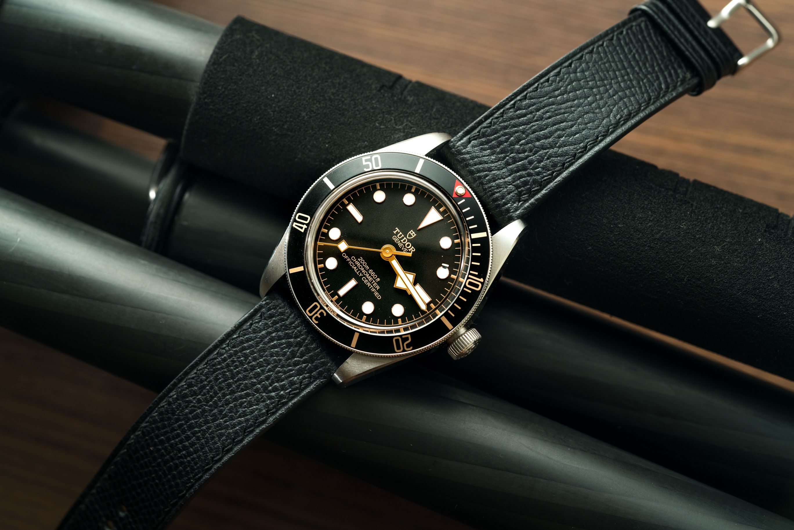 Tudor Black Bay 58 On Epsom Leather Strap Leather Watch Bands Tudor Black Bay Top Watches For Men