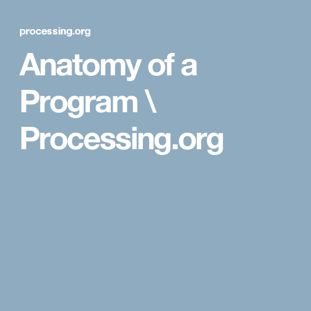 Anatomy of a Program \ Processing.org
