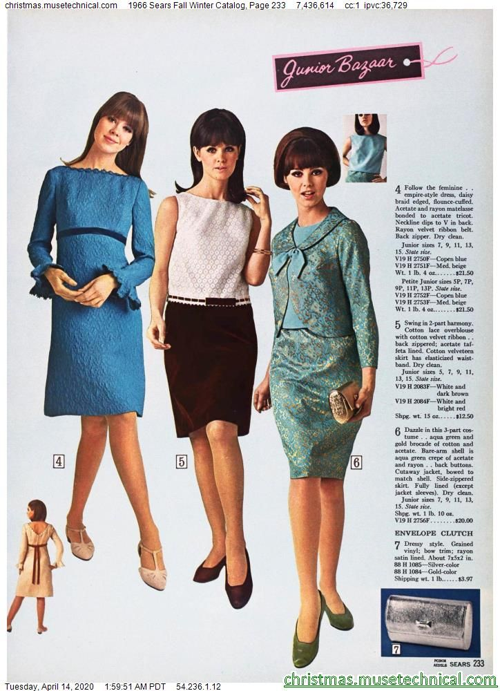 1966 Sears Fall Winter Catalog, Page 233 - Christm