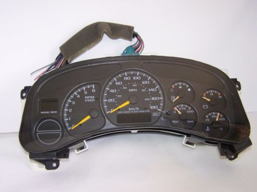 2002 chevy silverado parts diagram automotive electric fan relay wiring 99 02 1500 instrument gauge cluster speedometer ebay