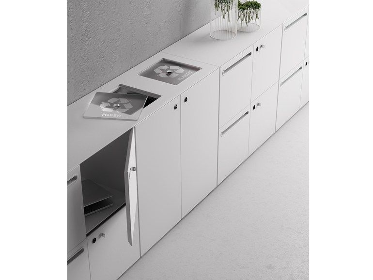 Low Horizontal Filing cabinet SERVICE Quaranta5 Collection by FANTONI