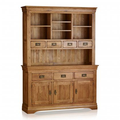French Farmhouse Large Dresser | Solid Oak | Oak Furniture ...