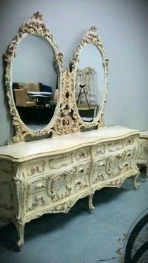 What do I do with this GAUDY Rococo Bedroom Set? Help - Houzz