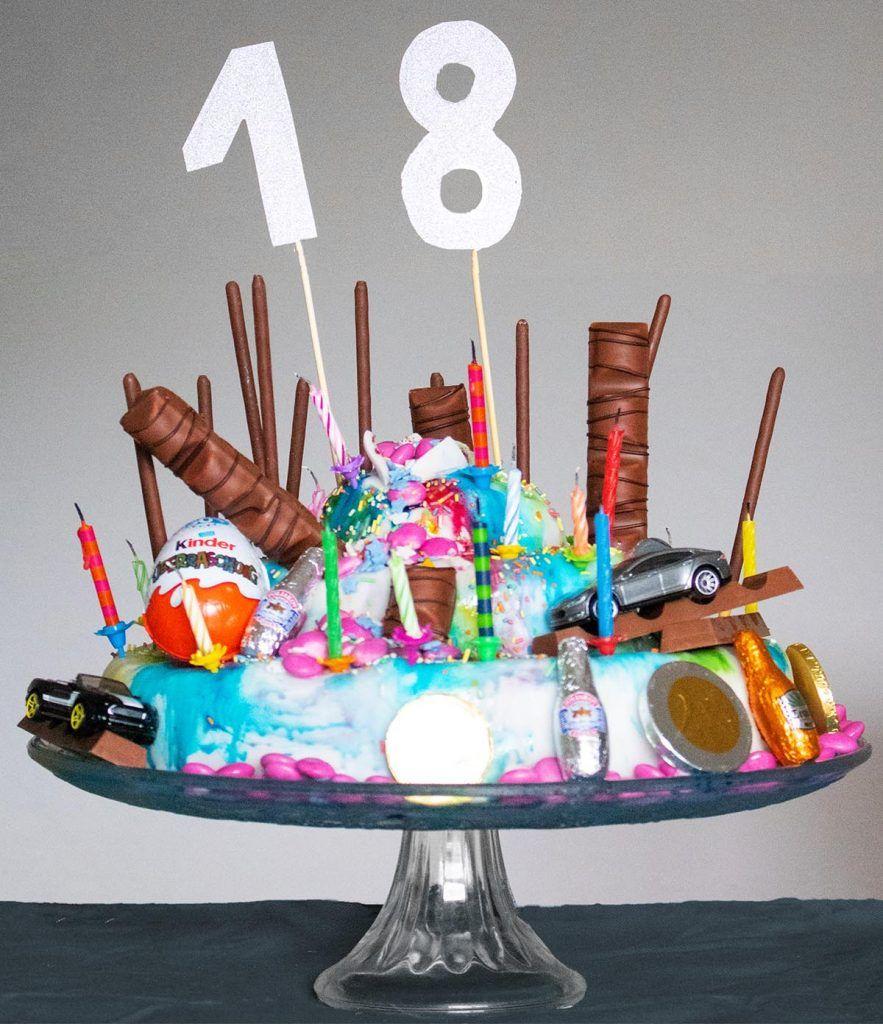 Kuchen für den 18. Geburtstag - Geburtstagskuchen für Jungs backen