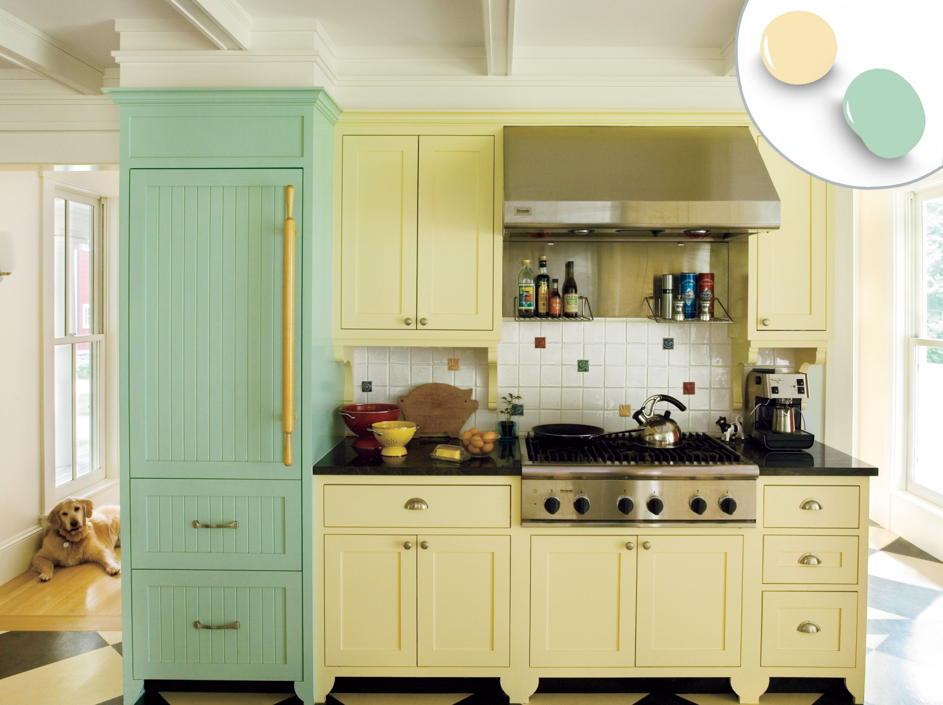 12 Kitchen Cabinet Color Combos That Really Cook Kitchen Design Color Kitchen Cabinet Colors Yellow Kitchen Cabinets
