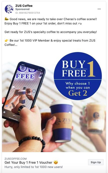 Zus Coffee Malaysia In 2020 Ad Creative Good News Enjoyment