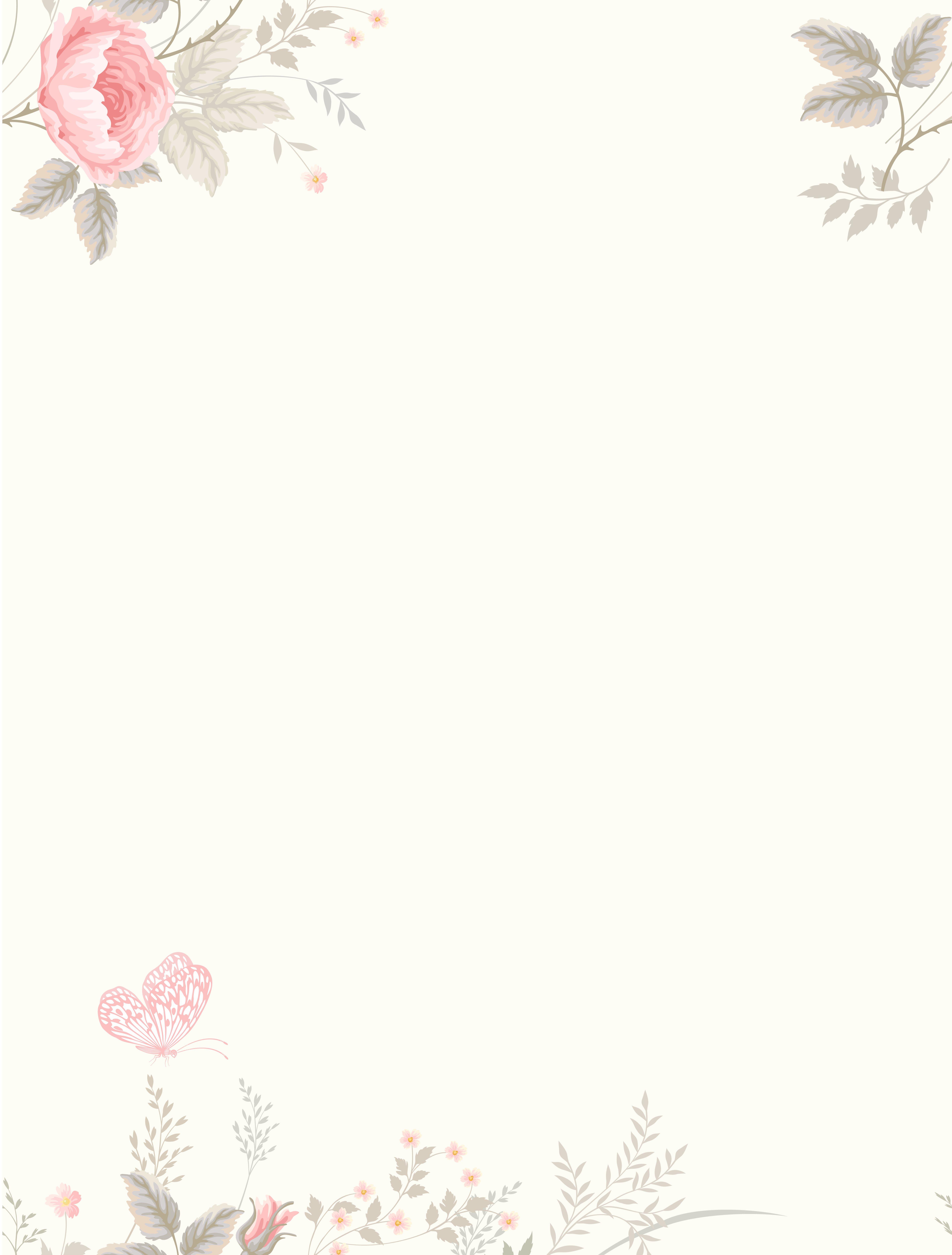 Vector Watercolor Flowers Fresh Literary Background Flower