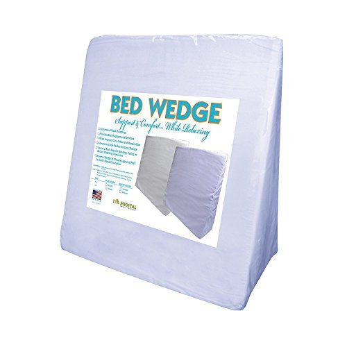 Eva Medical Wedge Bed Pillow 22 X 22 X 75 With Blue Pillow Cover