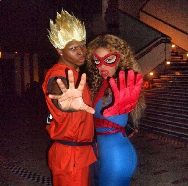 Beyonce as Spider-Man for Halloween 2009 BEYONCE Pinterest - no cost halloween costume ideas