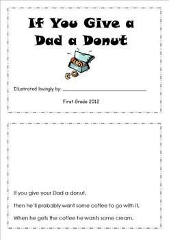 If you give a dad a donut. Father's day book