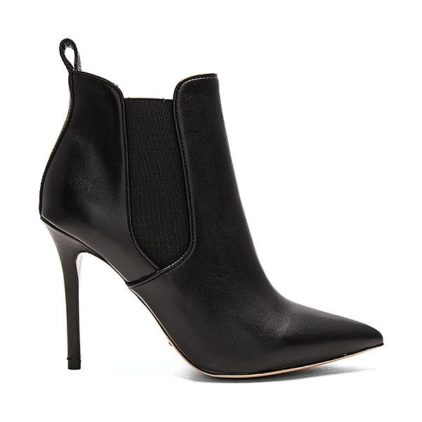 Tony Bianco Dejay Bootie (145 AUD) ❤ liked on Polyvore featuring shoes, boots, ankle booties, booties, slip on boots, leather upper boots, elastic ankle boots, pull on ankle boots and elastic boots