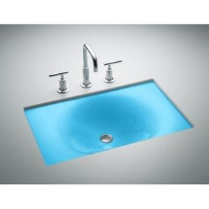 Kohler K2826 Kc Iron Tones Undermount Style Bathroom Sink Vapour Blue At Ferguson Com Rectangular Sink Bathroom Sink Bathroom Styling