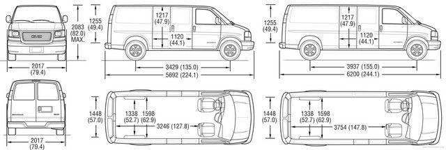 Ford Cargo Van Dimensions Cargo Van Cargo Van Conversion Chevy