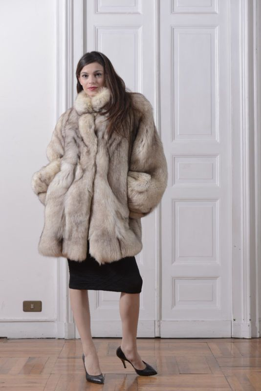 buy popular 60857 189e6 Fox fur jacket giaccone pelliccia volpe groenlandia veste ...