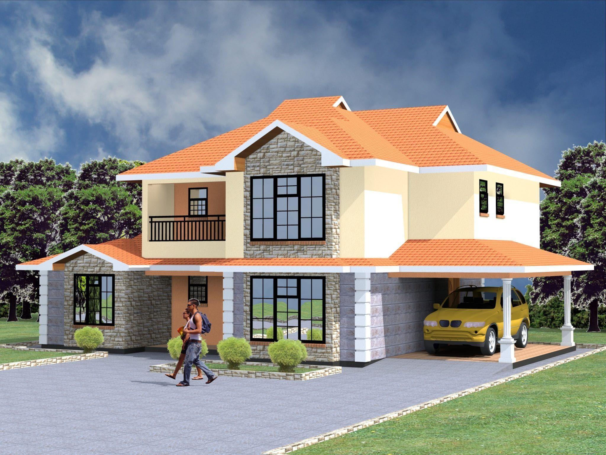 5 Bedroom Design 1035 A In 2020 House Plans House Maisonette