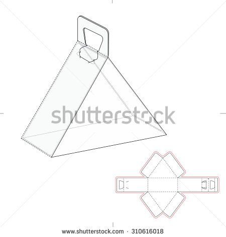 Triangular carrying box with handle and die line template triangular carrying box with handle and die line template maxwellsz