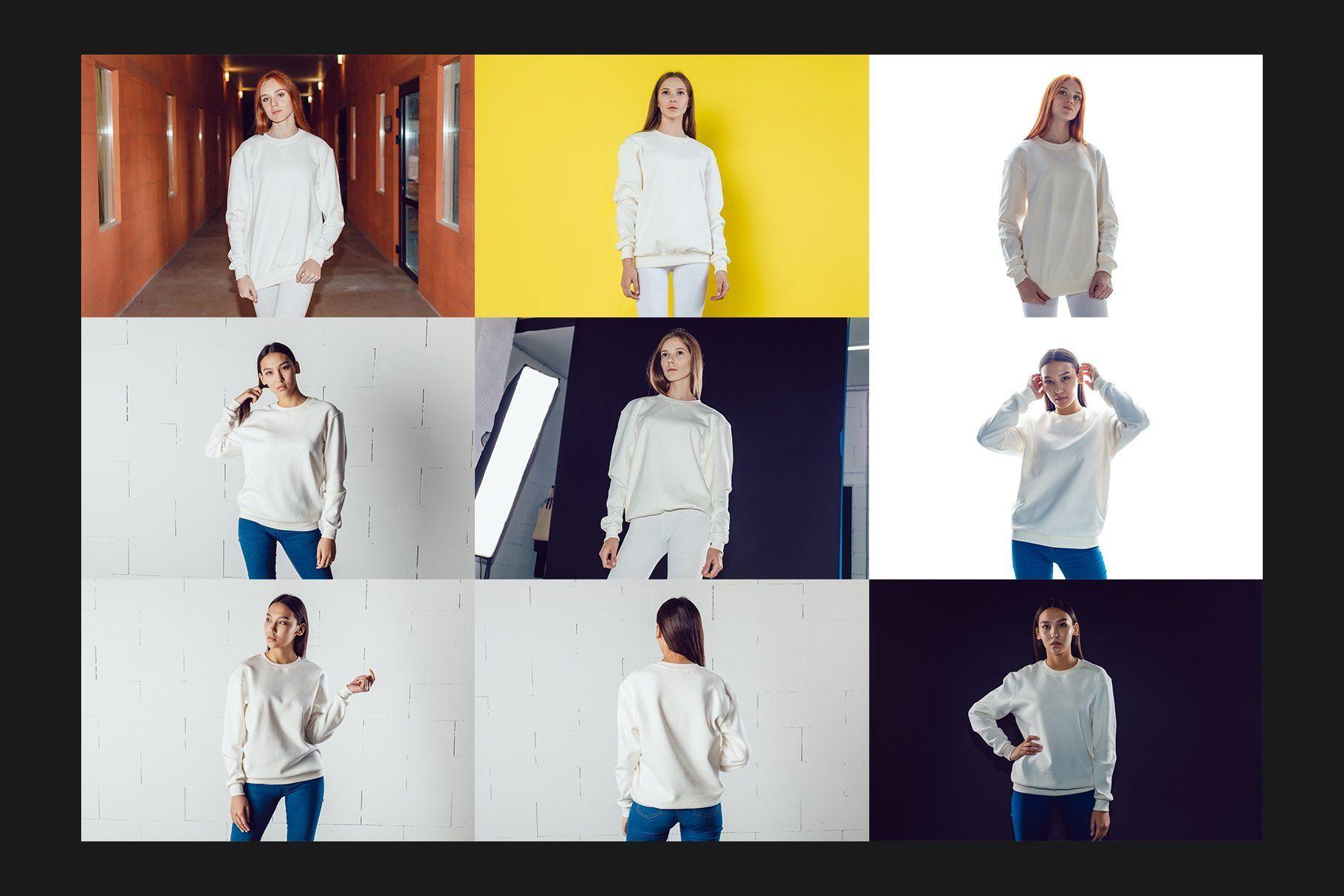 Download 32 Sweatshirt Mock Up Set Sweatshirts Kids Tshirts Sport Outfits