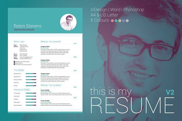 My Resume V By Bilmaw Creative On Creativemarket  Cv  Resume