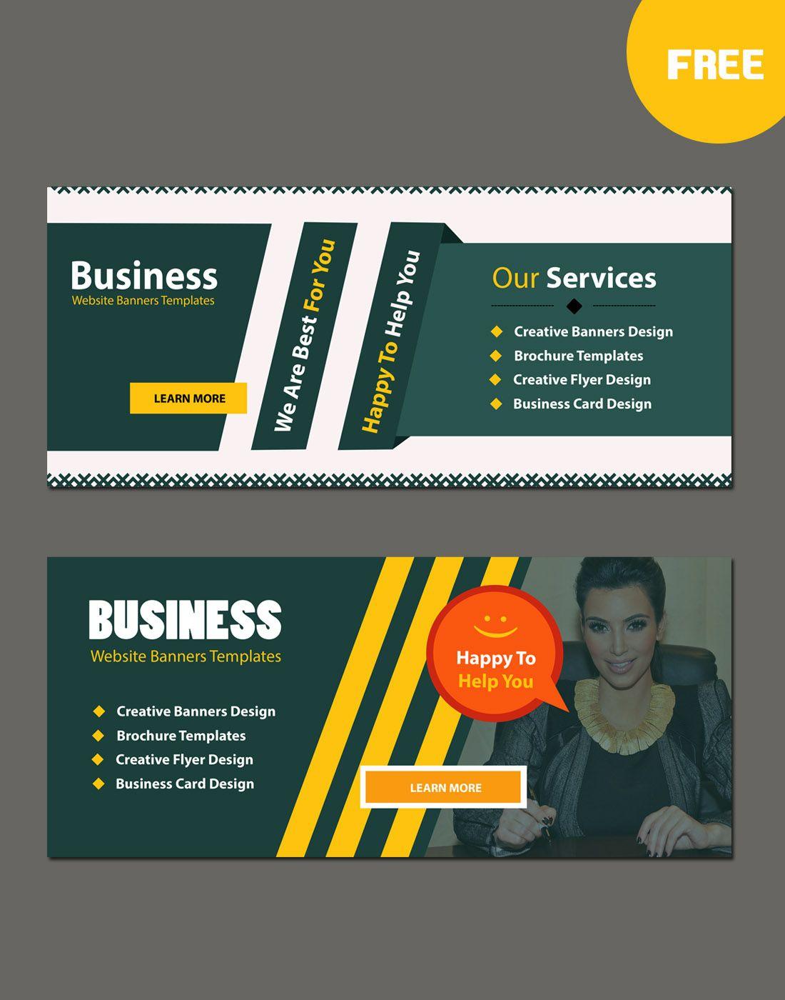 Business Website Modern Banners Template Free Website Psd Banners