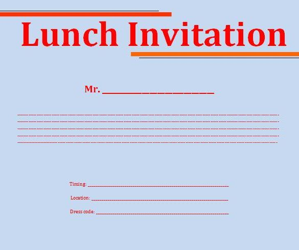 10+ Best Lunch Invitation Templates \ Designs Free \ Premium - best of invitation template free
