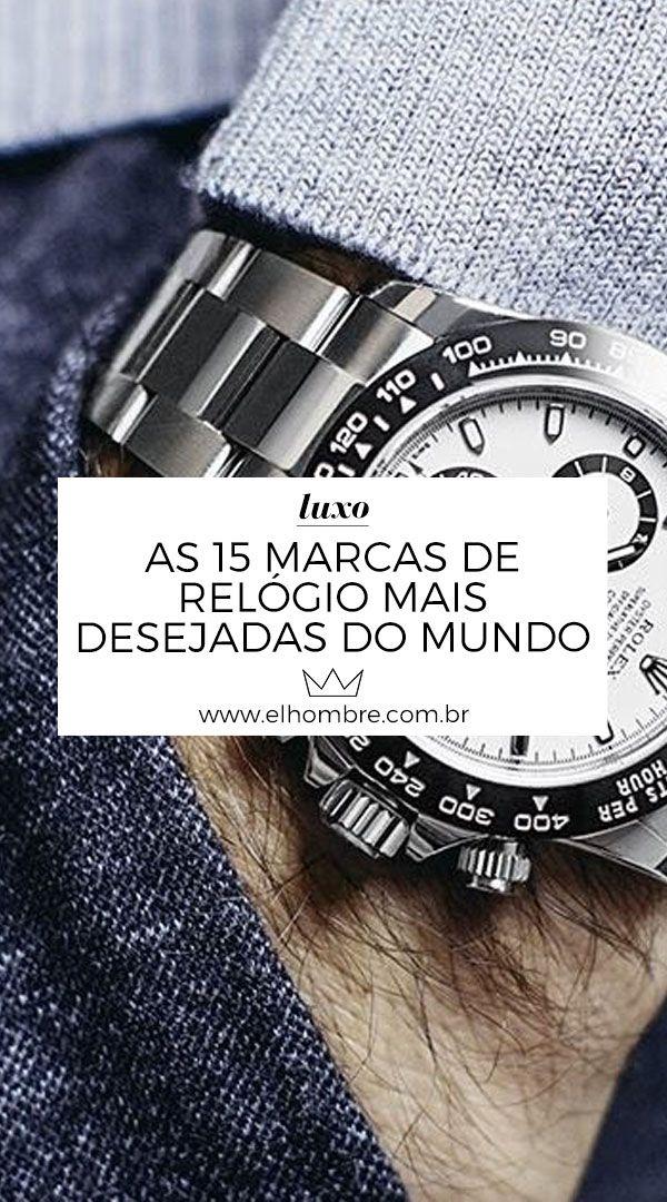 ab8486b7ecfd0 As 15 marcas de relógio mais desejadas do mundo   Relógios, Anéis ...