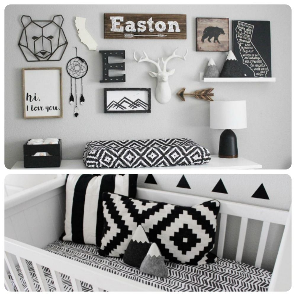 Rustic Meets Monochromatic In This Bold Boys Nursery!