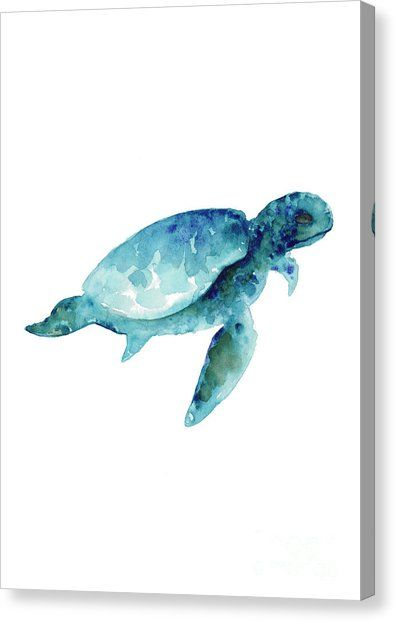 Sea Turtle Wall Art Print Abstract Sea Animals Nursery Wall Art