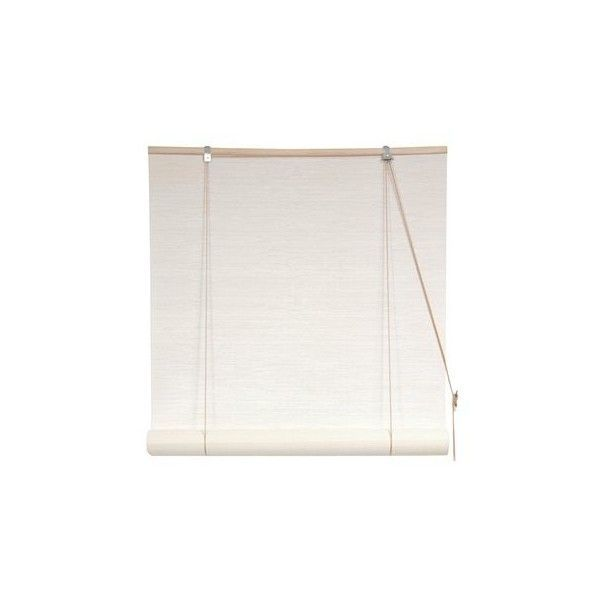 Oriental Furniture Wtwcl 01 White Bamboo Blinds 1 965 Rub Liked On Polyvore Featuring Home Decor Window Treatments Curtains