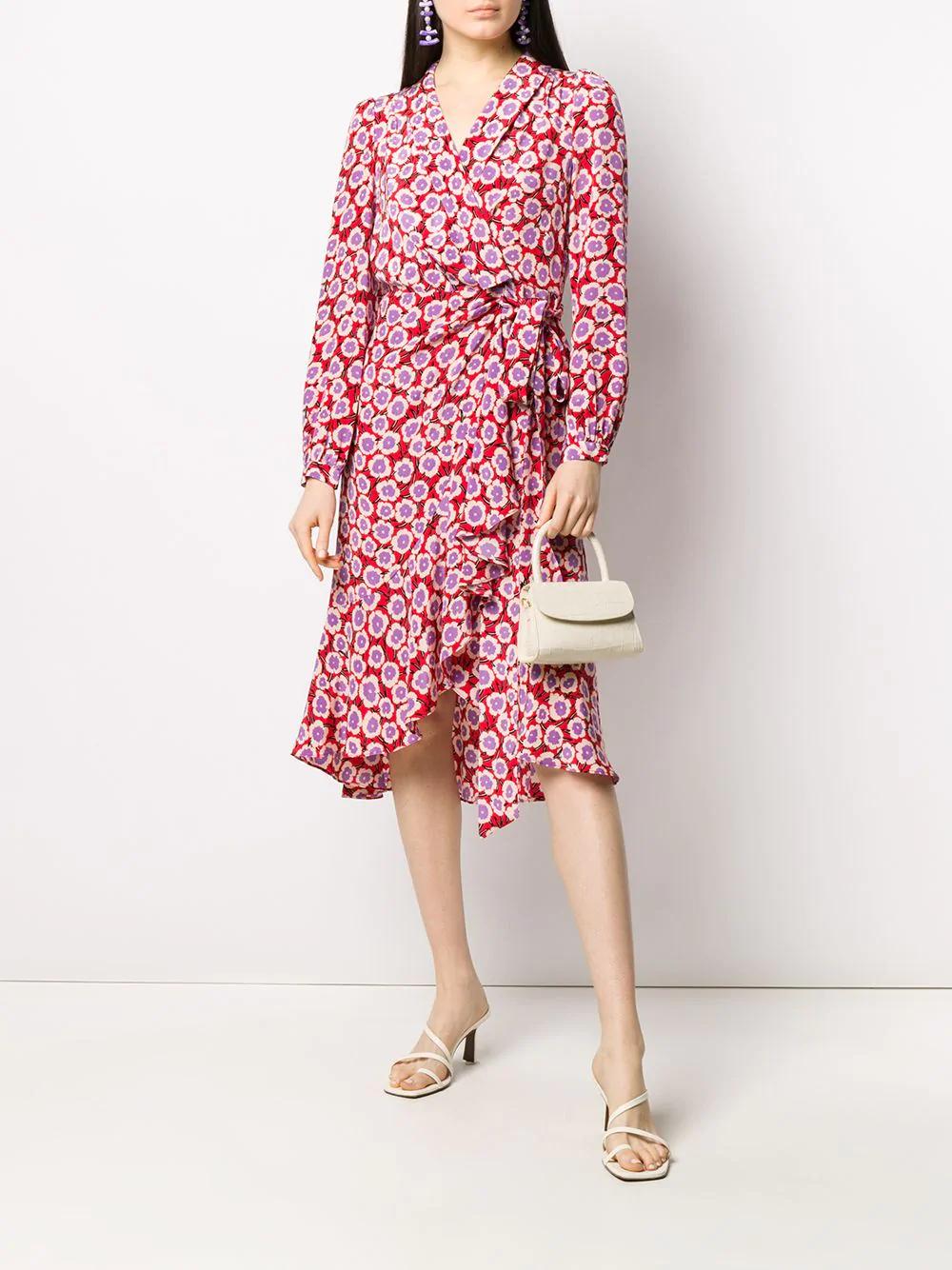 Dvf Diane Von Furstenberg Floral Print Wrap Dress Farfetch Printed Wrap Dresses Dvf Diane Von Furstenberg Dresses [ 1334 x 1000 Pixel ]