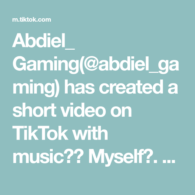 Abdiel Gaming Abdiel Gaming Has Created A Short Video On Tiktok With Music Myself Perfect Timing Foryou Foryourpage F Perfect Timing Games Fortnite