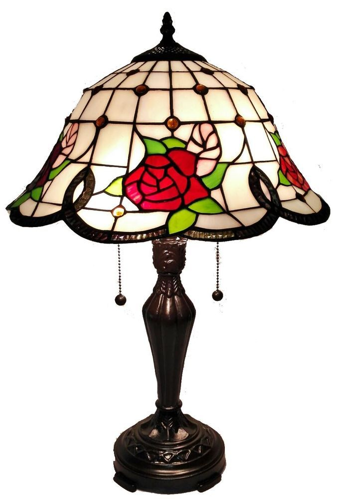 Am045tl16 tiffany style stained glass roses 2 light table lamp w 16 am045tl16 tiffany style stained glass roses 2 light table lamp w 16 shade aloadofball Images