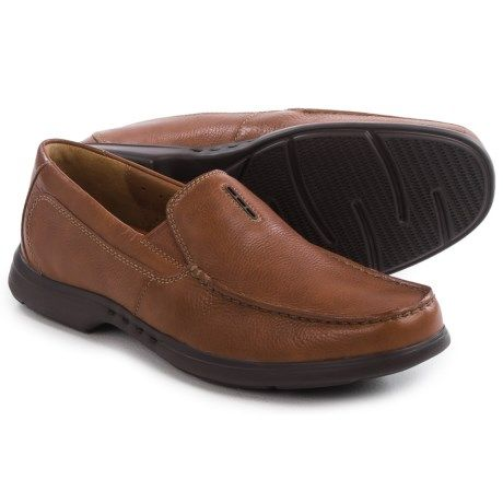 e139d5a258c Clarks Uneasley Twin Leather Loafers (For Men) in Tan Leather