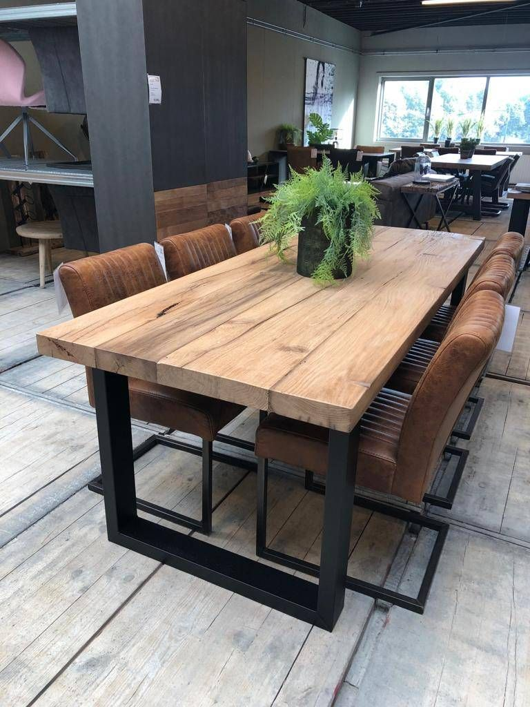 Oud Massief Eiken Tafel In 2020 Rustic Dining Room Table Dining