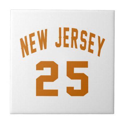 #New Jersey  25 Birthday Designs Ceramic Tile - #birthday #gift #present #giftidea #idea #gifts