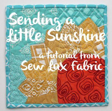 Sew Lux Fabric : Blog: Tutorial : Mug Rug or Pillow DIy