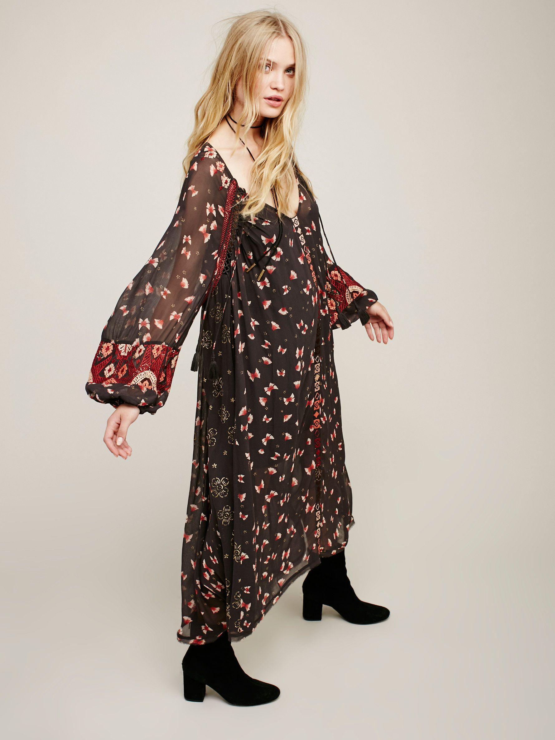 Viceroy printed maxi gorgeous long sleeve sheer maxi dress