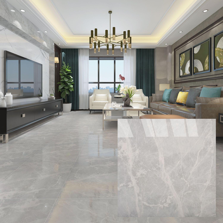 Brown 600 X 600mm Polished Ceramic Floor Tile In 2020 Grey Floor Tiles Living Room Living Room Tiles Tile Floor Living Room #porcelain #tiles #living #room