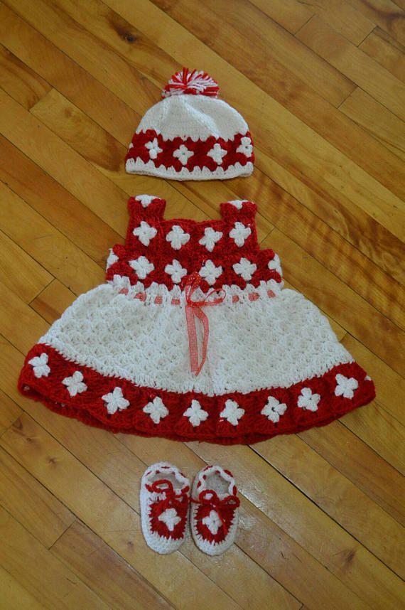 Vestido de bebé de ganchillo | Patrón Libre | Pinterest | Crochet ...