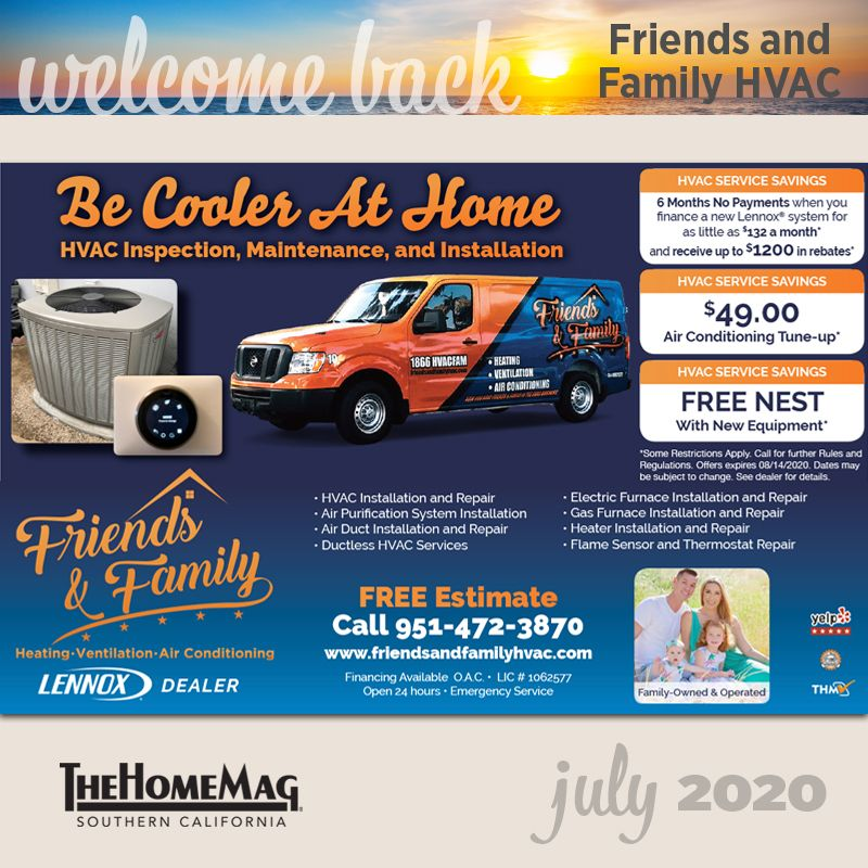 Join us in Friends and Family HVAC to TheHomeMag