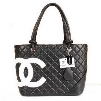 068d52f514256c Chanel Cambon White CC Logo Black Shoulder Bags A25169 ,zealbags2014.com
