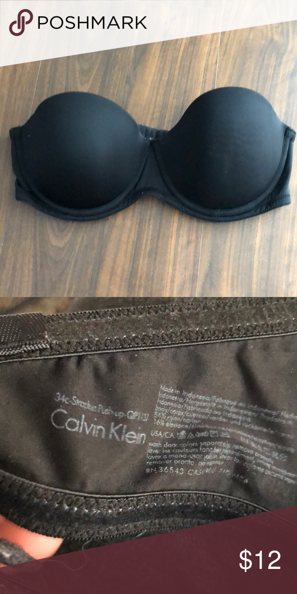 058c8f24dae Calvin Klein strapless bra 34c Gently used do not have the straps was used  for a formal. Calvin Klein Intimates   Sleepwear Bras
