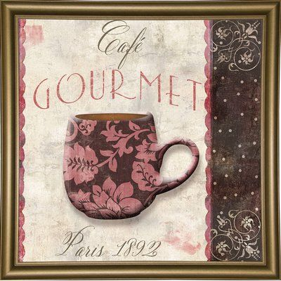 Ophelia & Co. 'Patisserie XIII' Graphic Art Print Format: Bistro Gold Framed Paper