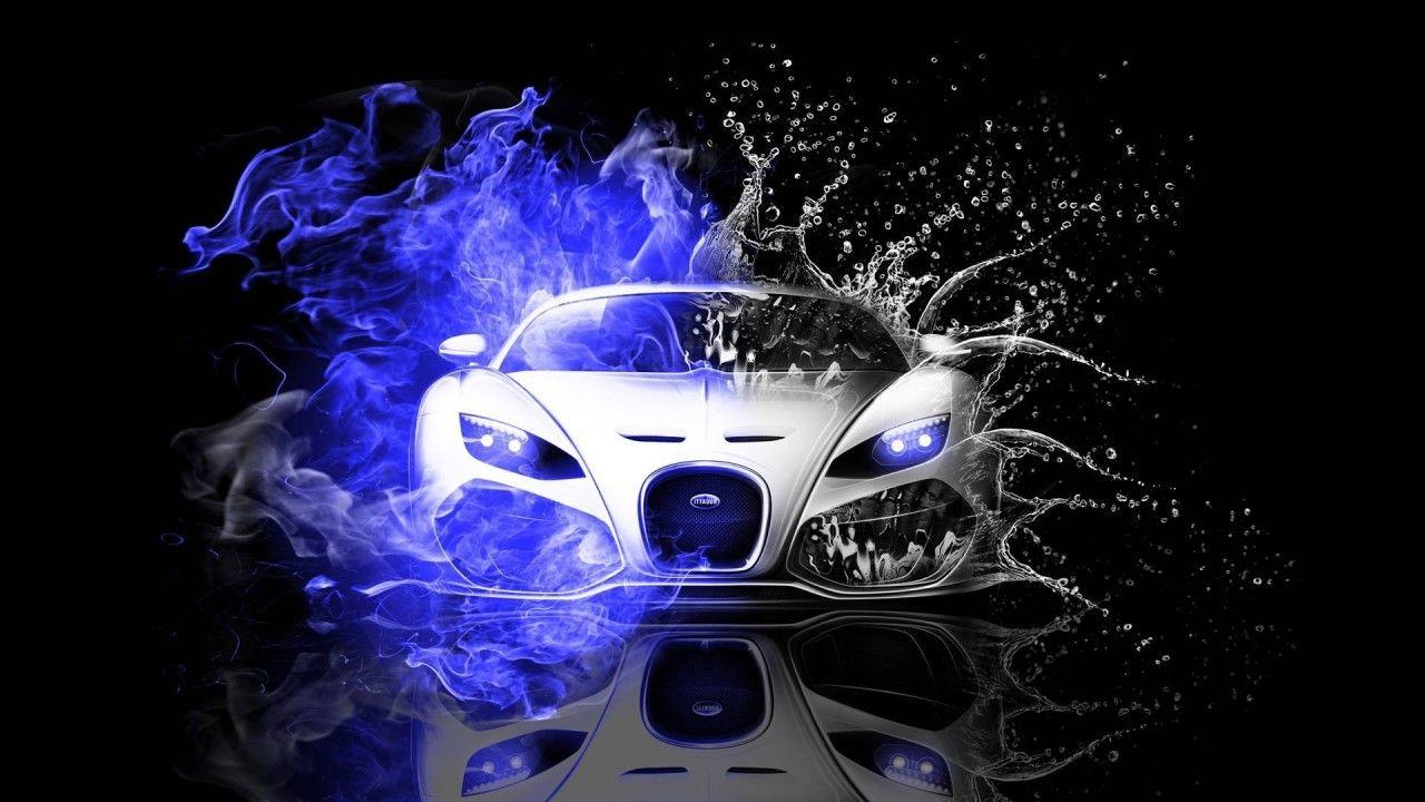 Bugatti Veyron Fire Water Wallpaper