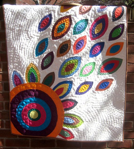 In Bloom White Applique Quilt- Portion of Proceeds to Charity. $285.00, via Etsy.